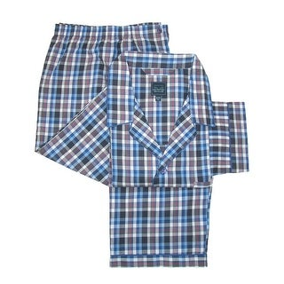 Majestic International Men's Big & Tall Long Sleeve Long Leg Pajama Set - deep water blue