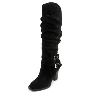 INC International Concepts Jordana Round Toe Suede Knee High Boot