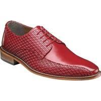 Stacy Adams Men's Gianluca Bike Toe Oxford 25174 Red Leather