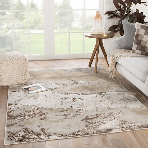 Silver Orchid Gregory Abstract Area Rug