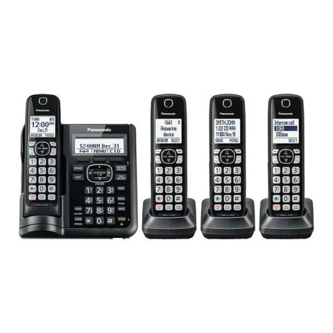 Panasonic KX-TGF544B Cordless Phone With Handset Cordless Phone with Answering Machine - 4 Handsets