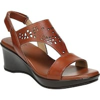 Naturalizer Women's Veda Wedge Sandal Cognac Leather
