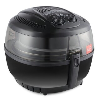 Della Electric 10 Quart Rotisserie Air Fryer Roaster Oil Less Griller Cooker Gormet for Home Kitchen, Black