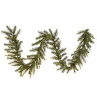 "9' x 16"" Pre-Lit Jack Pine Artificial Christmas Garland - Warm Clear LED Lights - green"