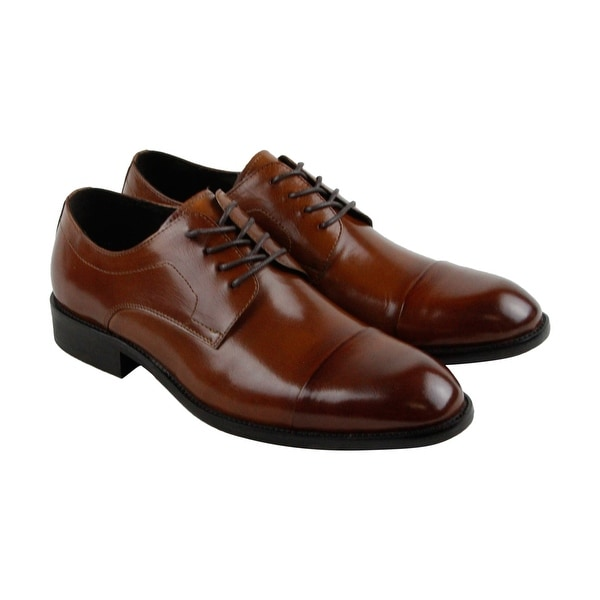 Kenneth Cole New York Design 10461 Mens Brown Casual Dress Oxfords Shoes