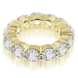 5.25 cttw. 14K Yellow Gold Round Cut Diamond Eternity Ring