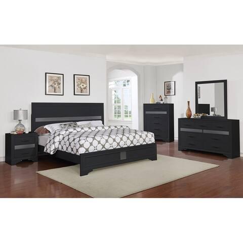 Dreyfuss Inlaid Bedroom Set (Full/ Queen) (4pc/ 5pc)