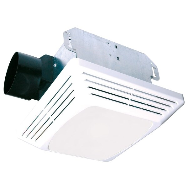 Air King ASLC70 70 CFM HVI Certifified 4.0 Sone Exhaust Fan with Light from the Advantage Collection - White