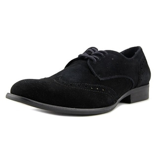 Steve Madden Fortunee Men  Round Toe Suede Black Oxford