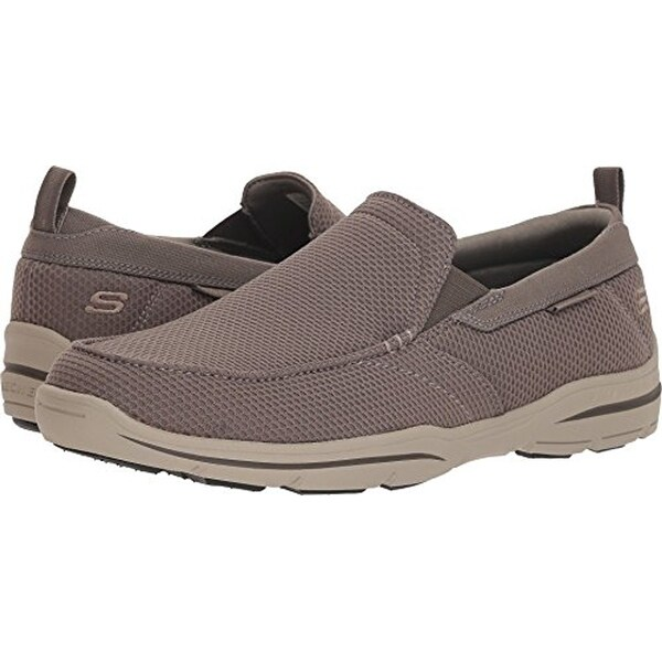 NEW Skechers Mens Relaxed Fit Harper Walton Khaki Casual Slip On Shoes Size 9 US