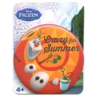 "Disney's Frozen 1.5"" Button: ""Olaf Crazy For Summer"""