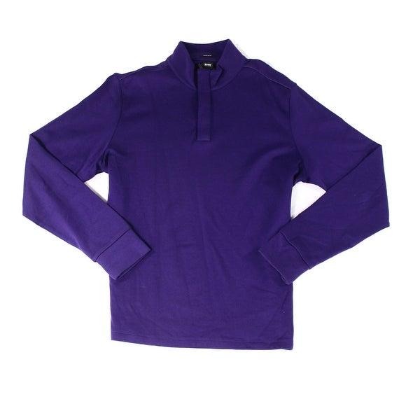 ff3cf798 Shop Boss Hugo Boss NEW Purple Mens Size XL Long-Sleeve 1/2 Zip Sweater -  Free Shipping Today - Overstock - 19403248