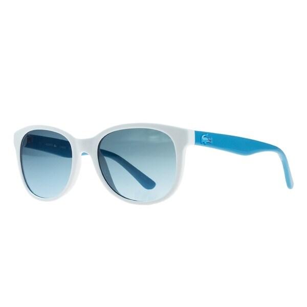 116f904591 Shop Lacoste L3603 S 105 White Rectangle Sunglasses - 48mm-17mm ...