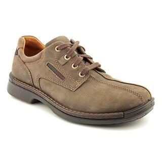 Ecco Fusion Slip On Men Round Toe Leather Brown Oxford