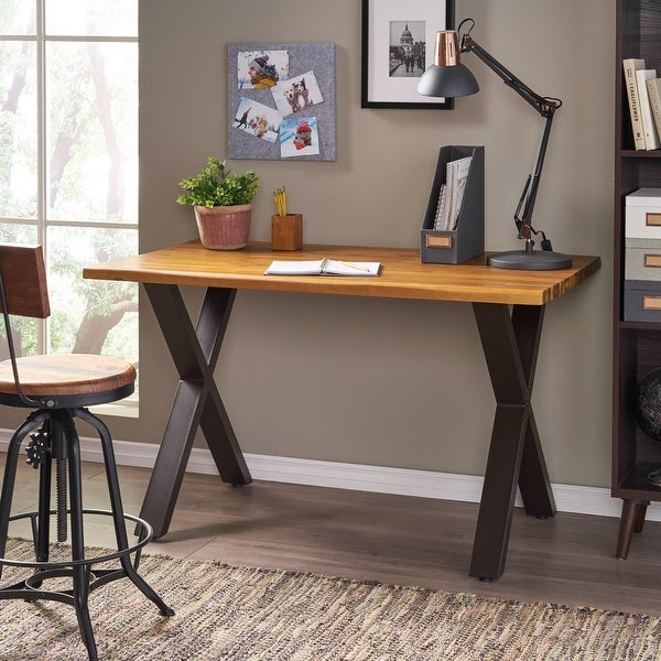 Jedidiah Acacia Wood Computer Desk by Christopher Knight Home. Opens flyout.