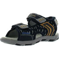 Geox Boys Kids Sand.Pianeta D Water Friendly Outdoor Fashion Sandals - Navy/Yellow - 26 m eu / 9 m us toddler