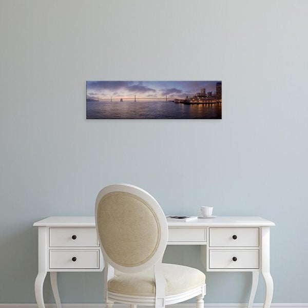 Easy Art Prints Alan Blaustein's 'Bay Pano #119' Premium Canvas Art