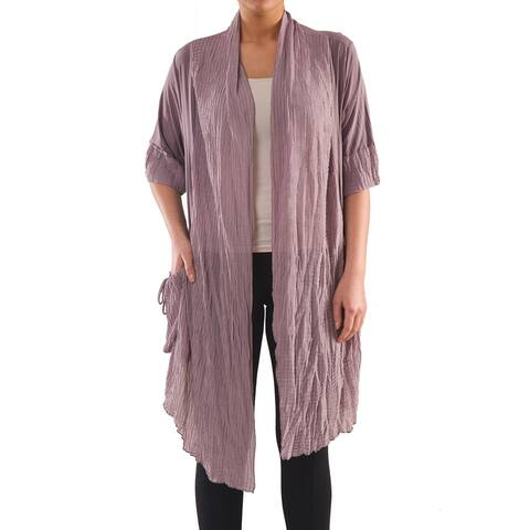 Chic Jersey Cardigan - Women's Plus Size Tops - Summer Cardigan - La Mouette Collection