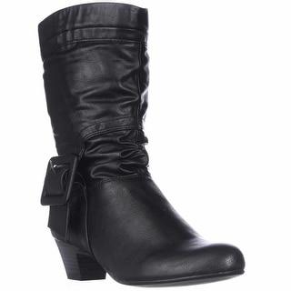 SC35 Yesme Mid-Calf Fashion Boots, Black
