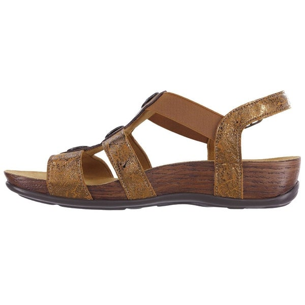 SAS Womens Clover Open Toe Casual Strappy Sandals
