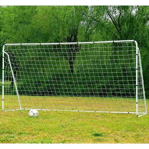 12' x 6' Powder Coated Steel Soccer Goal, Portable Training Aid Football Net