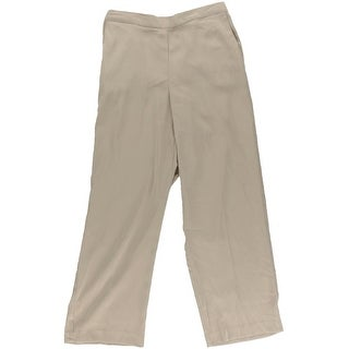 Alfred Dunner Womens Petites Elastic Waist Flat Pants