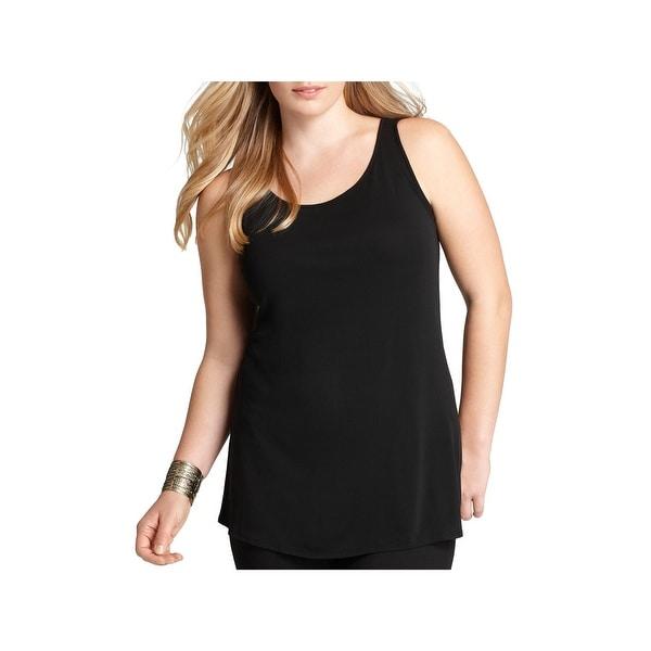95ba8b5353a83 Shop Eileen Fisher Womens Plus Tank Top Silk Jersey - Free Shipping ...