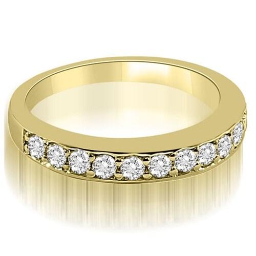 0.50 cttw. 14K Yellow Gold Classic Round Cut Diamond Wedding Ring