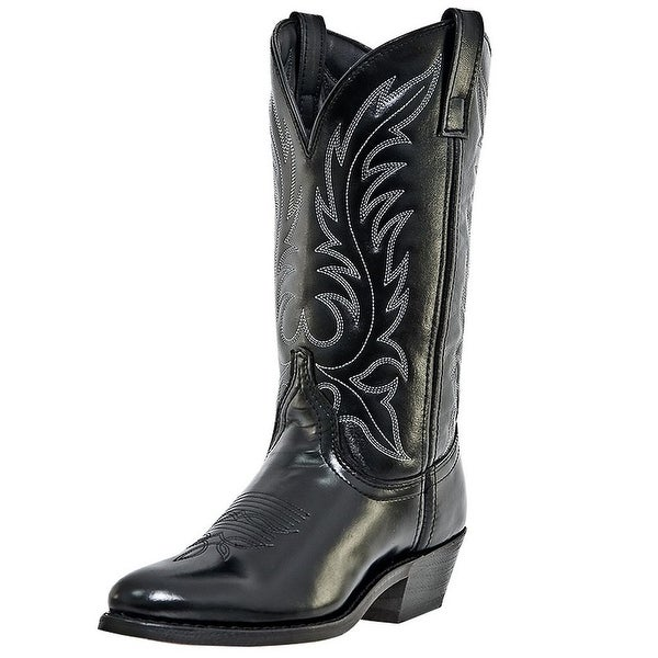 Laredo Western Boots Womens Leather Kadi Cowboy Round Toe Black