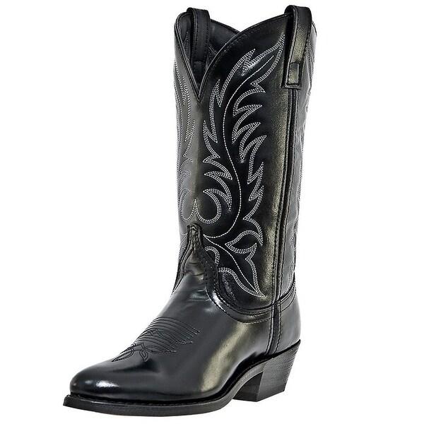 Laredo Western Boots Womens Leather Kadi Cowboy Round Toe Black