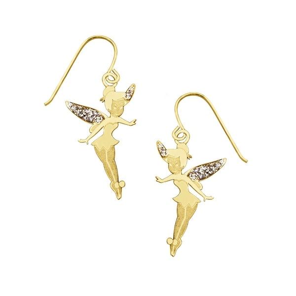 Disney's Tinker Bell Drop Earrings in 10K Gold - YELLOW