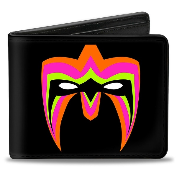 Ultimate Warrior Parts Unknown Mask + Ultimate Warrior Logo Black Multi Bi-Fold Wallet - One Size Fits most