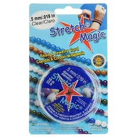 Stretch Magic Clear Stretchy Cord .5mm/.019 Inch Width - 10 Meters