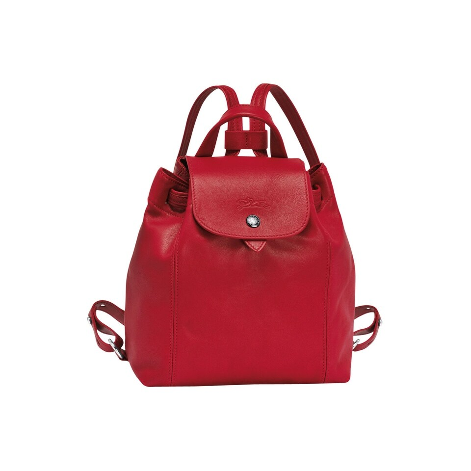 Longchamp Le Pliage Cuir Backpack Xs In Red - One Size