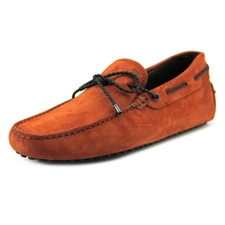 Tod's Lacetto My Colors New Gommini Men Square Toe Leather Orange Loafer
