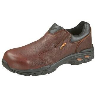 Thorogood Work Shoes Mens Oxford Slip On Plain CT Brown 804-4061