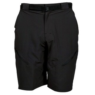 Zoic Mens Black Market Large Black Bike Shorts with Essential Liner