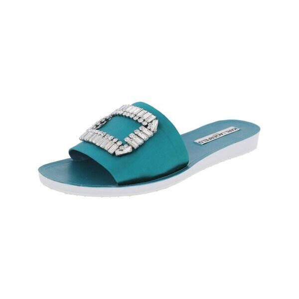 Karl Lagerfeld Paris Womens Mirah 7 Slide Sandals Satin Embellished