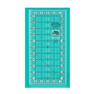 "Link to Creative Grids Basic Range 6in x 12in Rectangle Quilt Ruler - 6"" x 12"" x 0.25"" Similar Items in Sewing & Quilting"