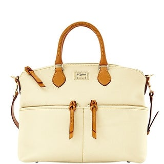 Dooney & Bourke Dillen Double Pocket Satchel (Introduced by Dooney & Bourke at $288 in Jan 2012) - Bone