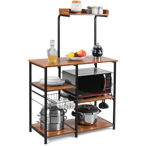 Kitchen Baker's Rack 4-Tier Microwave Storage Stand