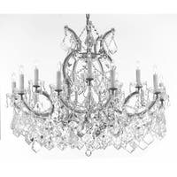 Maria Theresa Crystal Chandelier 16 Lights Silver