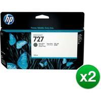 HP 727 300-ml Photo Black DesignJet Ink Cartridge (F9J79A)(2-Pack)