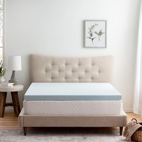 Brookside Gel Infused Memory Foam Mattress Topper - Blue