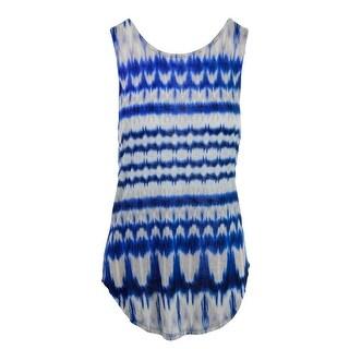 Michael Stars Womens Tie-Dye Open Back Pullover Top - o/s