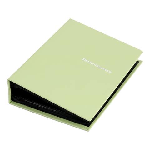 Retangular Shaped Letter Print Memorable Holder Photo Album Light Green
