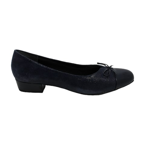Ros Hommerson Womens Tawnie Leather Cap Toe Classic Pumps