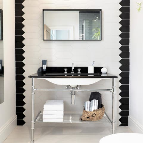 SomerTile 4x11.75-inch Cometa Black Porcelain Floor and Wall Tile