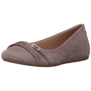 Hush Puppies Womens Haylee Heather Closed Toe Slide Flats