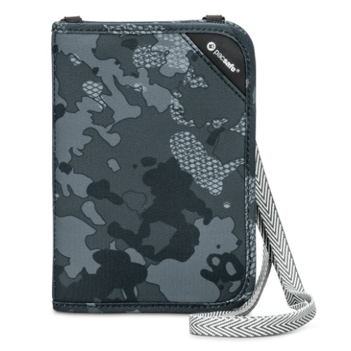Pacsafe 10561802-Grey Camo Anti-Theft RFIDsafe V150 Blocking Compact Organiser